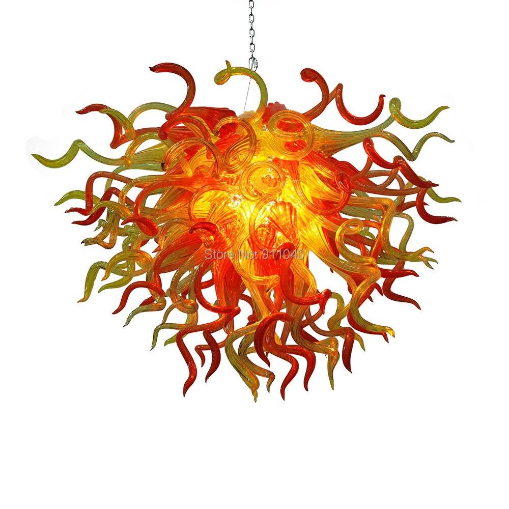 Livraison gratuite 110/220v AC Led beau soleil Art verre cristal lustre moderne