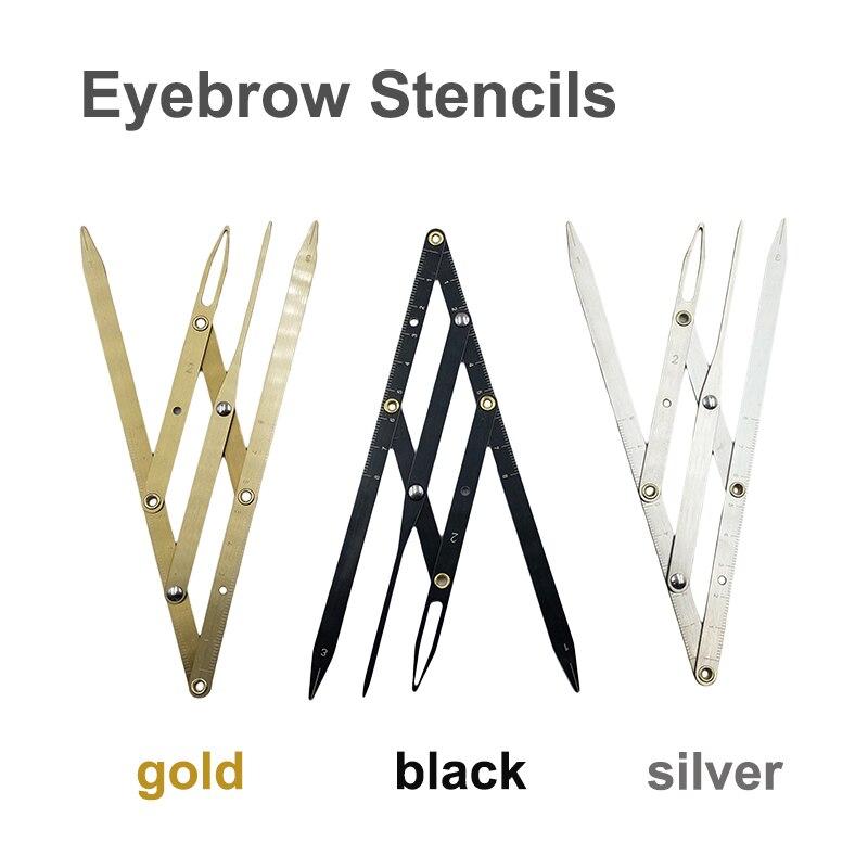 1 Uds. Suministros de maquillaje permanente Golden Ratio Caliper regla para cejas Microblading accesorios ceja tatuaje de plantilla herramientas de medida