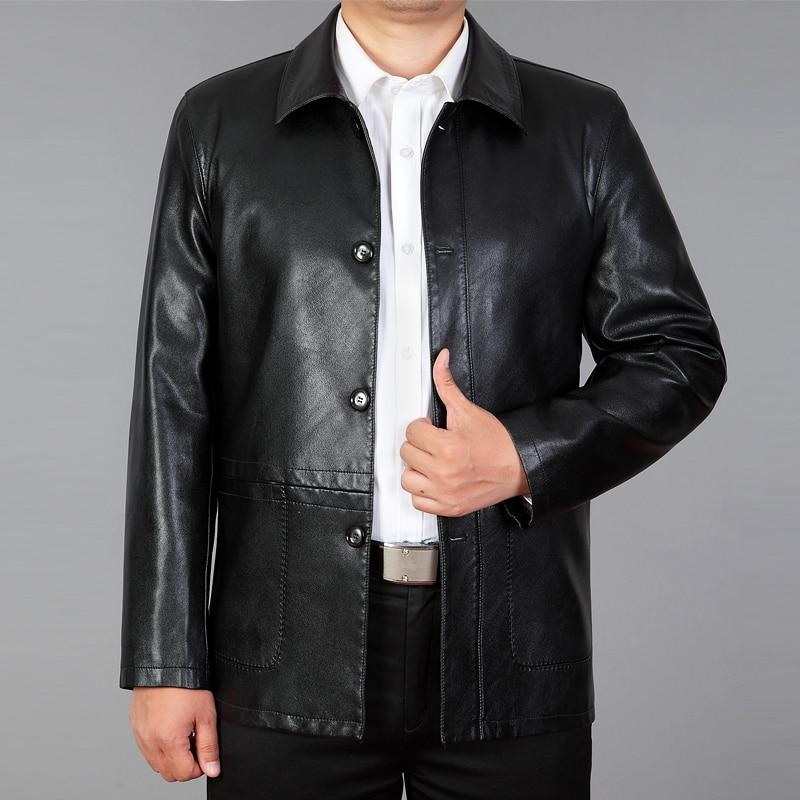 حار الرجال سترة جلدية الرجال ربيع 2021 جديد معطف جلد الذكور قصيرة ضئيلة دراجة نارية الملابس الجلدية رجالي ملابس خارجية أسود M-xxxl
