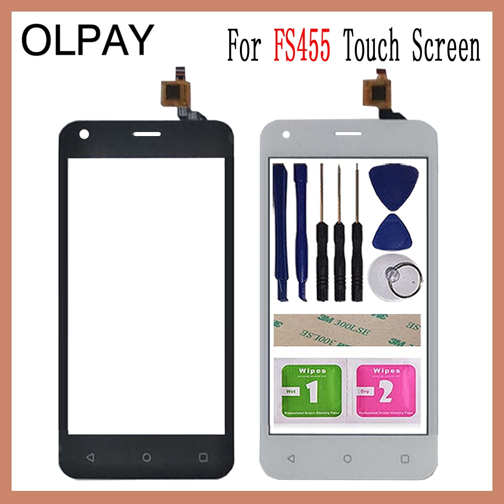 4.5'' inch Mobile Phone Touchscreen For Fly FS455 FS 455 Touch Screen Glass Digitizer Panel Lens Sen