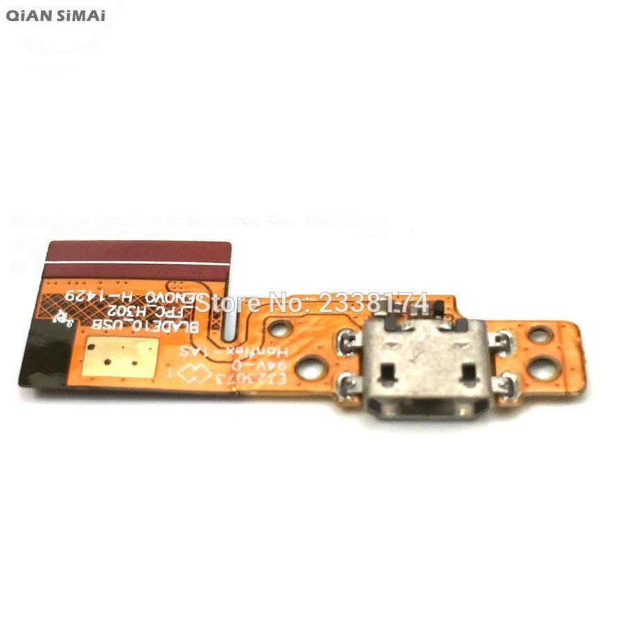 QiAN SiMAi para Lenovo Tablet Pad Yoga 10 B8000 nuevo conector de base USB de carga del puerto de carga del cargador de Cable Flex de piezas de reparación