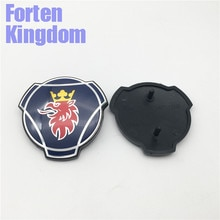 Forten المملكة 1 قطعة لشاحنة سكانيا الأزرق الجبهة شواء مصبغة شعار 80 مللي متر ABS لوحة سوداء الألومنيوم شارة 1401610