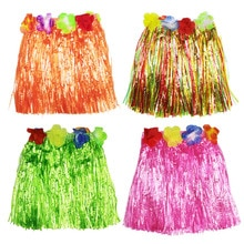 30cm-80cm Plastic Fibers Women Dance Grass Skirts Hula Skirt Hawaiian costumes Children Stage Dress