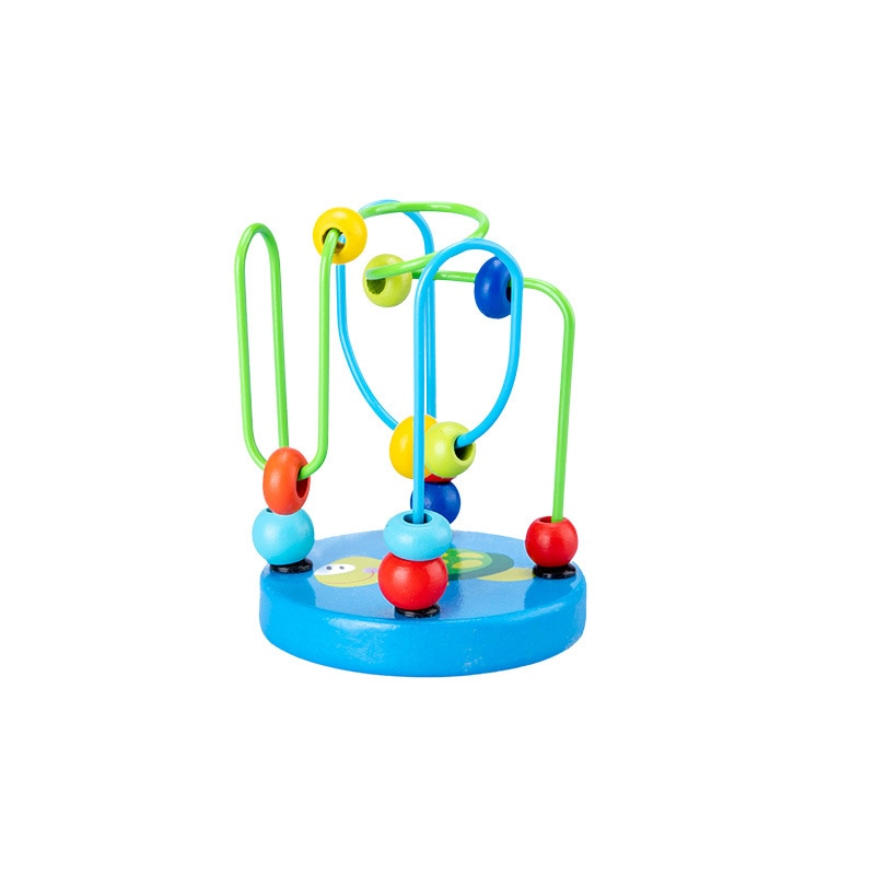 HOT 12cm Early Math Childhood Learning Toy Children Kids Baby Colorful Wooden Around Beads Educational Toy Kids Gift Wood Doll