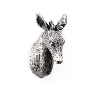 Antieke Zilveren Herten Ontwerp kabinet Knop Pull Lade Dressoir Kast Trekstang/Franse Land shabby knoppen Unieke