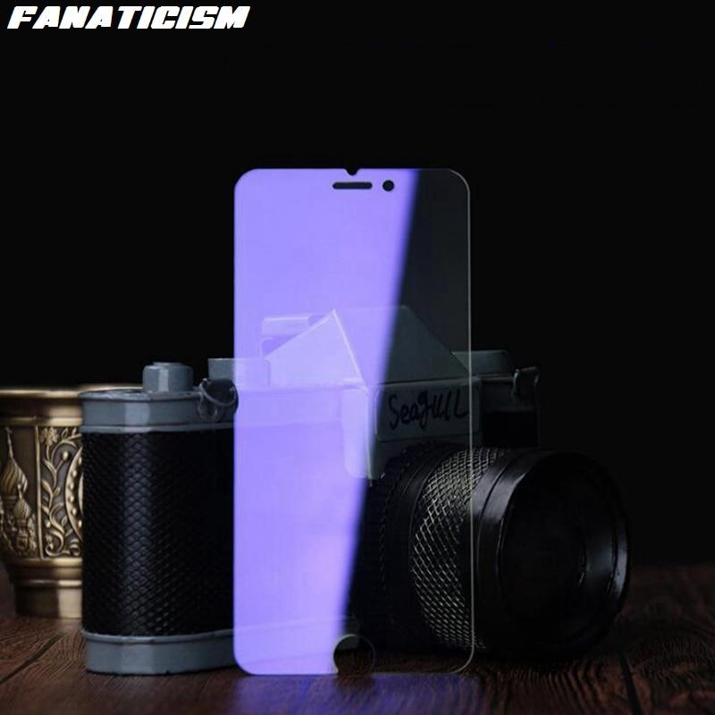 100 pces anti-roxo luz telefone temperado filme de vidro para iphone 11 pro xr x xs max se 5 6 7 8 plus protetor de tela de vidro temperado