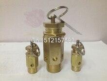 "DN8 1/4"" DN10 3/8"" DN15 1/2"" DN20 3/4""PT Male Air Compressor Safety Pressure Relief Valve A21W-16T 3/5/7/8/10/11/12.5/15KG"