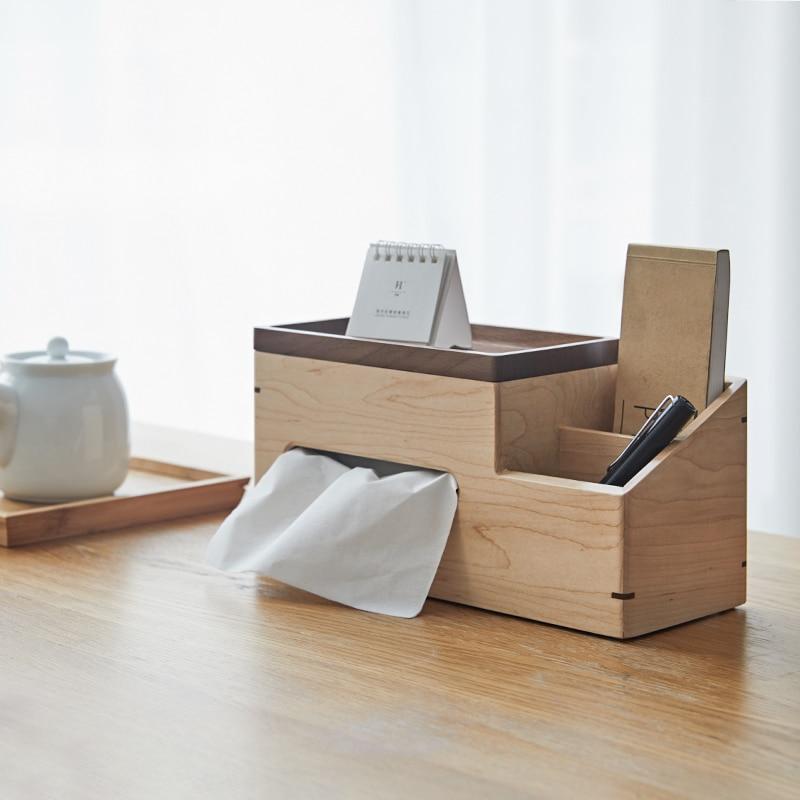 Soporte de tarjeta de visita de madera estilo japonés