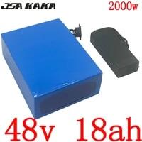 48v 1000w 2000w lithium battery 48v 18ah electric bike battery 48v 18ah lithium ion battery with 50a bms 5a charger free duty