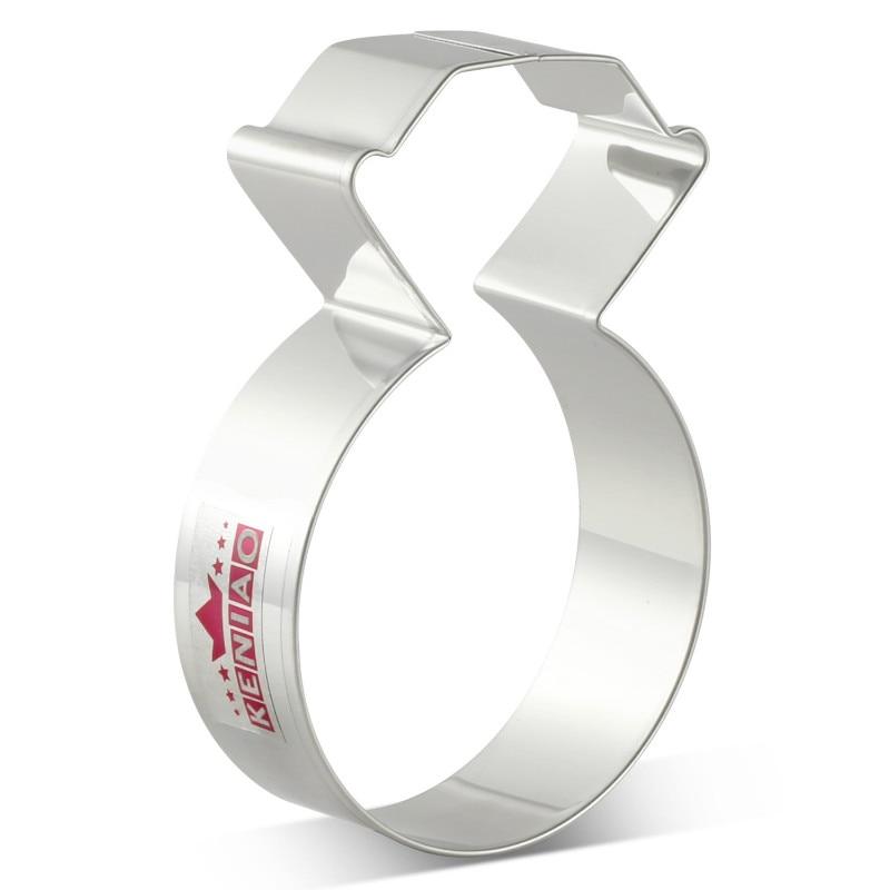 KENIAO Бриллиантовое кольцо - Резак для печенья - 9,9 x 6,4 cm Печенье / Помадка / Кондитерские изделия / Хлеборезки - Нержавеющая сталь