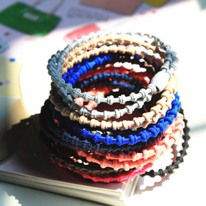 2pcs/lot New styling tools cute Colorful bamboo elastic hair bands hair accessories for women girl children make you fashion