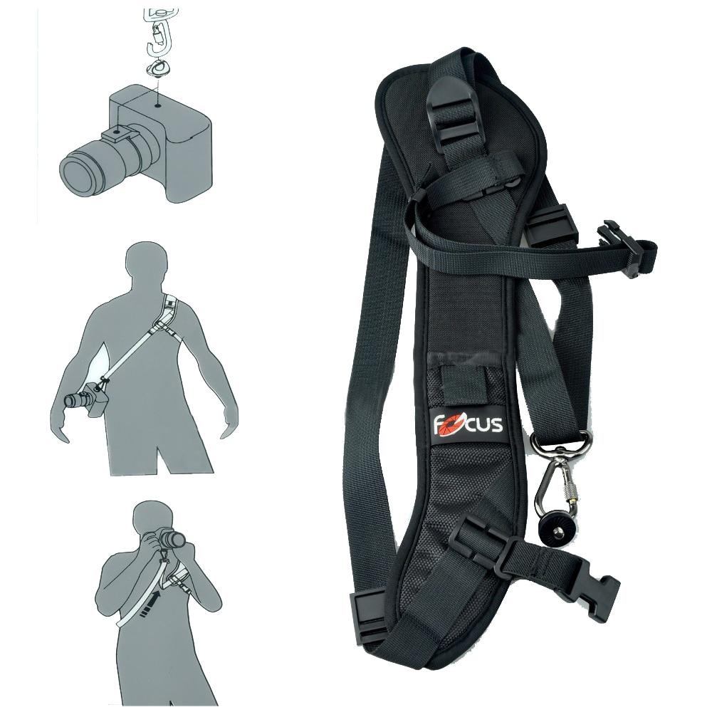 EACHSHOT Focus F-1 antideslizante correa de hombro rápida correa de cuello para cámara Dslr negro + soporte de tapa de lente de cámara Anti-pérdida