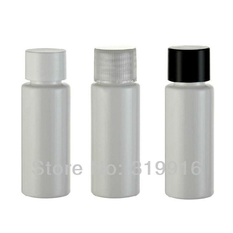 20 مللي X 100 الأبيض فارغة صغيرة عينة زجاجات مستحضرات التجميل مع كاب برغي ، 20cc السفر حجم الزجاجات ، عينة زجاجات ، زجاجة محلول