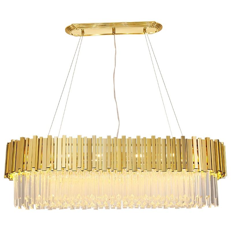 Candelabro de cristal postmoderno de gama alta villa de lujo led simple atmósfera moderna lámpara de sala de estar de gama alta lámparas de lujo