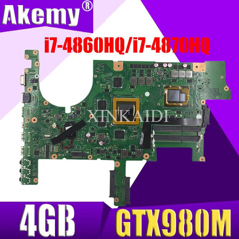 G751JY материнская плата для ASUS G751JY G751JT G751JL G751J G751 материнская плата для ноутбука i7-4860HQ / i7-4870HQ GTX980M/4GB