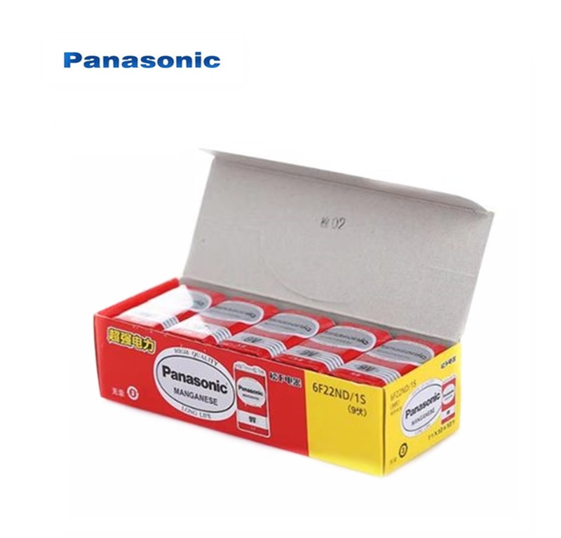 10 pièces 100% Original Panasonic Greencell PP3 6F22 6LR61 MN1604 9V bloc batterie robuste