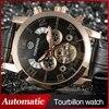 Montre automatique Business de luxe pour hommes avec bracelet noir en cuir véritable boîte-cadeau