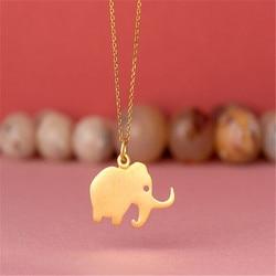 Модное милое маленькое ожерелье-чокер с подвеской в виде слона для женщин, рождественский подарок, ювелирные изделия