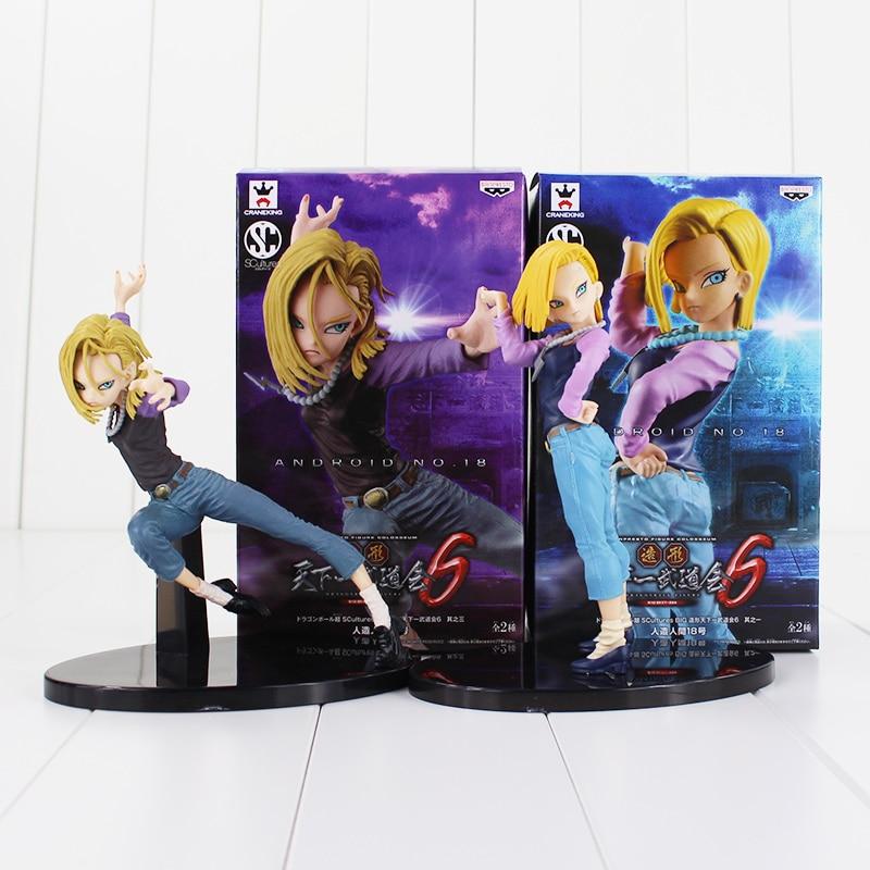 15cm, Dragon Ball, Deagonball, Super Saiyan, Android NO. 18, Lazuli, DXF, juguete de figura de PVC