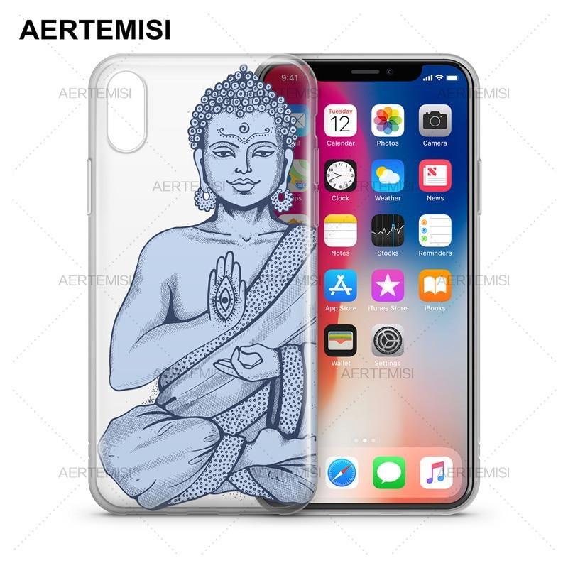 Aertemisi чехлы для телефонов Будда Хамса прозрачный кристально чистый мягкий ТПУ чехол Чехол для iPhone 5 5S SE 6 6s 7 8 Plus X