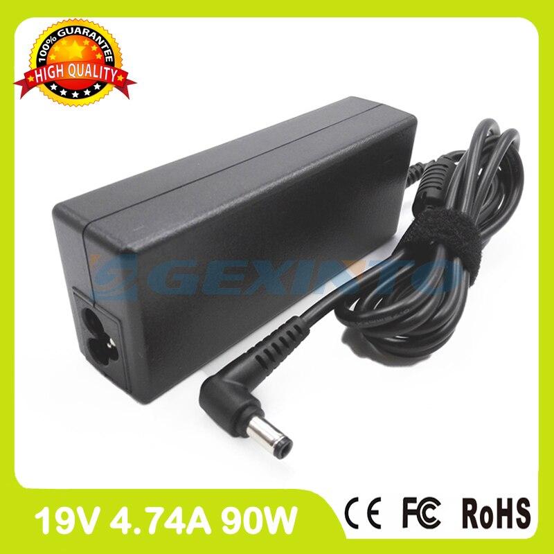 19 V 4.74A 90 W del ordenador portátil adaptador de CA cargador PA-1900-42 para asus M67V M8000 N52X N61D K555UF P55A Pro50M Pro57T pro60V R550CM Z83U