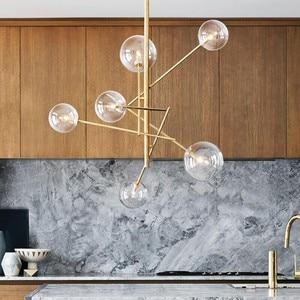 Glass Bubbles Study Livingroom Restaurant Cafe Decoration Lamp Europe Modern Creative Concise Style Glass Pendant Light