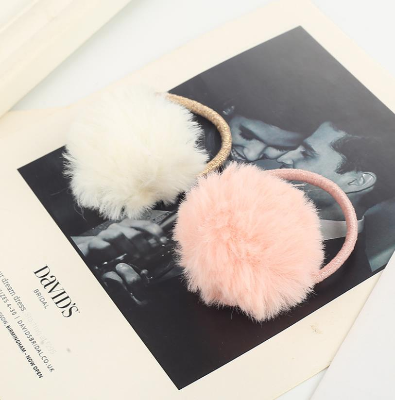 burgundy casual sport sleeveless top and elastic waist short co ord with pom pom details New Colorful Pom pom Ball elastic rubber hairbands Girls Hair Barrettes Autumn Winter Princess Headdress Hair Accessories Q17