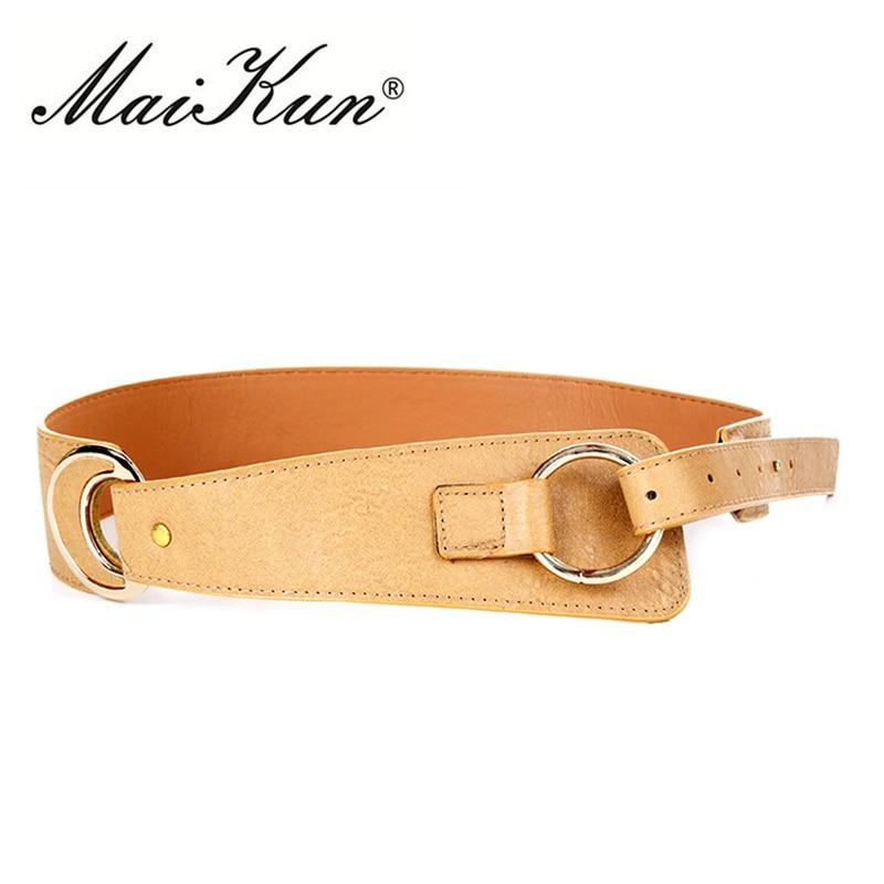 Pin up cinturones para mujer cincha elástica para Jeans de cintura de cuero negro las mujeres plata cinturón hebilla redonda