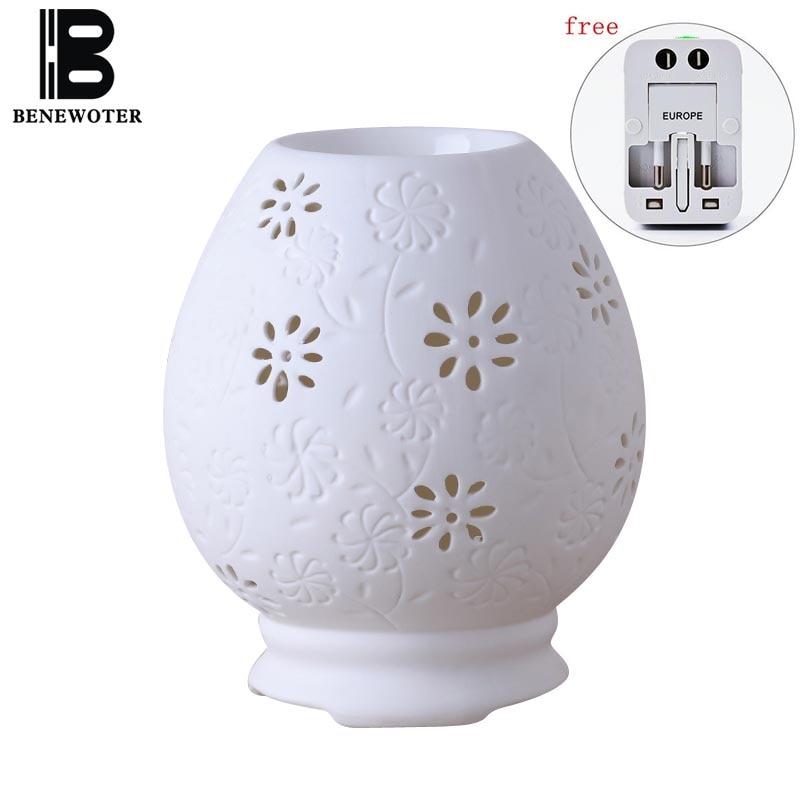 220V Vintage difusor de Perfume de cerámica eléctrico quemador de lámpara de aromaterapia calentador de aceite esencial SPA Yoga soporte para aromas estufa horno