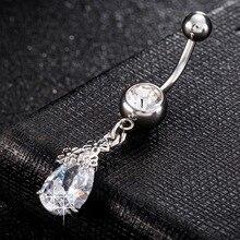 Медицинская нержавеющая сталь, пупырчатое кольцо для пупка, украшения для тела, Кристальные камни, пупырчатые серьги для ногтей, украшения для тела