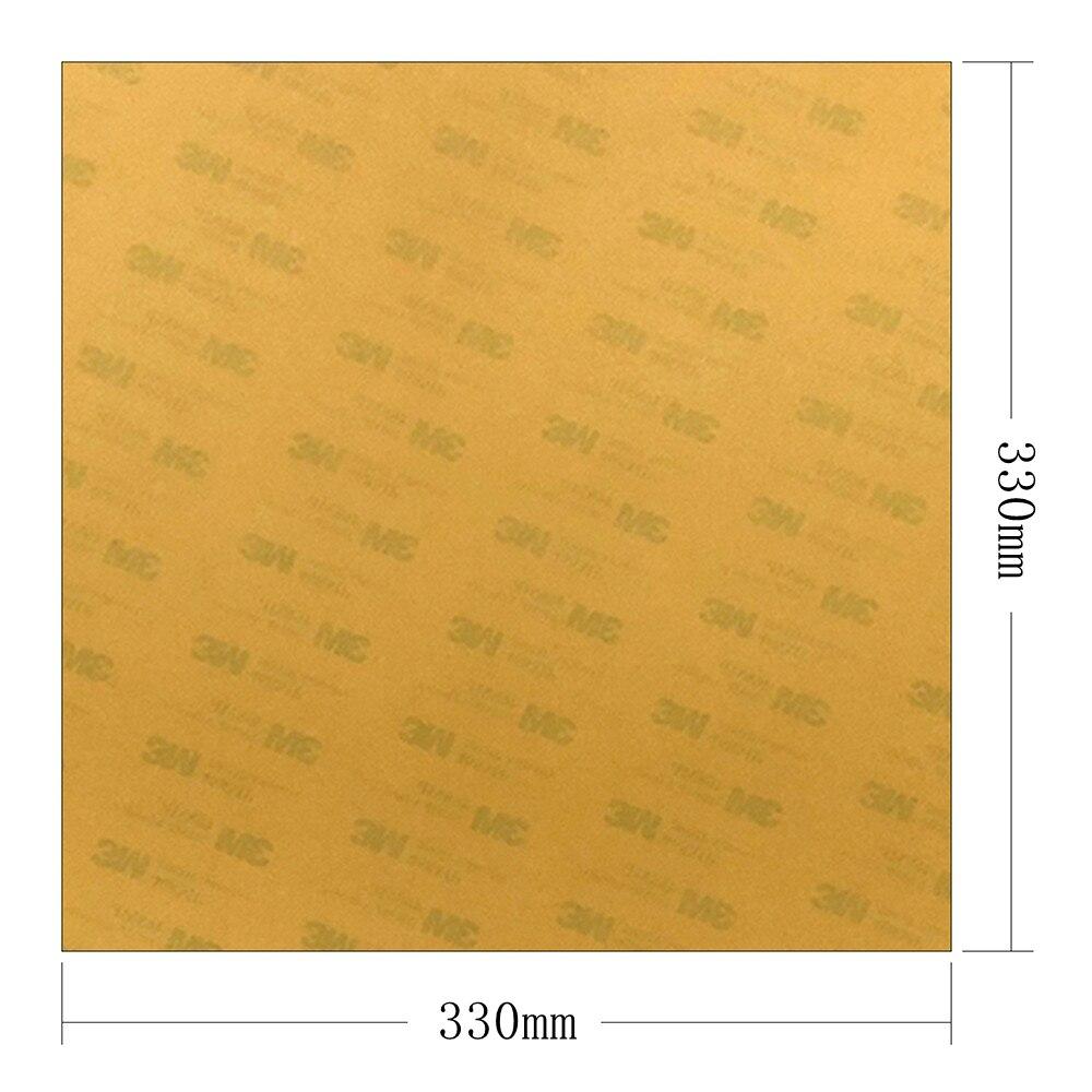 """Nueva superficie de construcción de impresora 3D energética, hoja PEI de 0,2mm 330x33 0mm/13 """"x 13"""" con adhesivo 3M para impresora 3D Tronxy X5S cama climatizada"""
