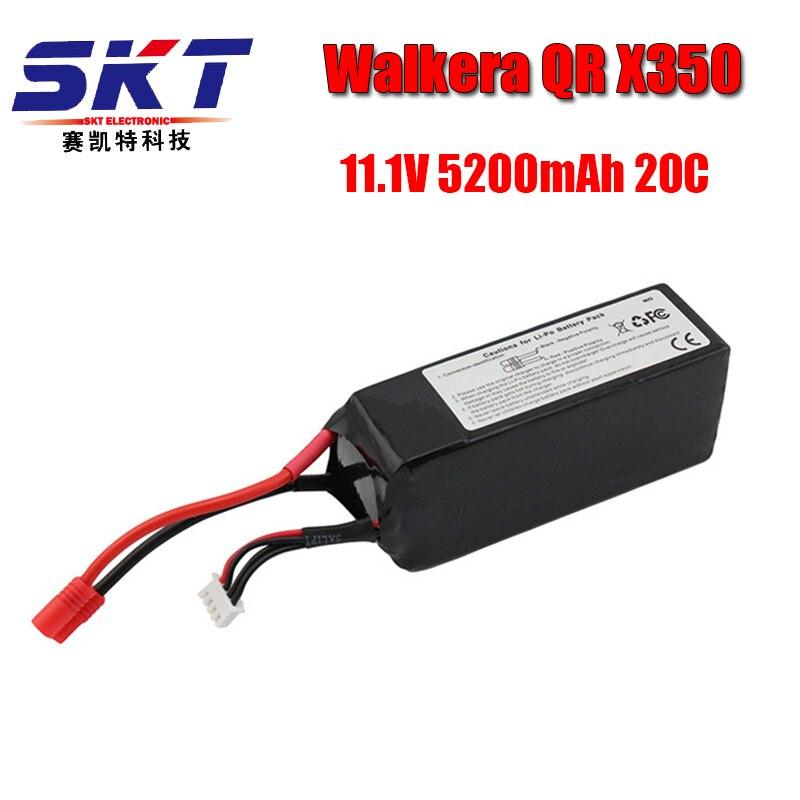 Walkera QR X350 PRO Lipo батарея 11,1 В 5200 мАч 3S 20C RC Дрон Квадрокоптер запасные части SKT RC LI Po батарея