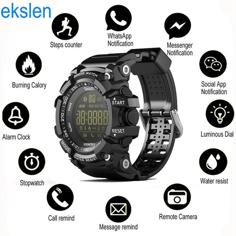ekslen EX16 Smart Watch Bluetooth 4.0 Fitness SmartWatch Waterproof with Pedometer Calories for Outdoor Sport Smart Wristwatch