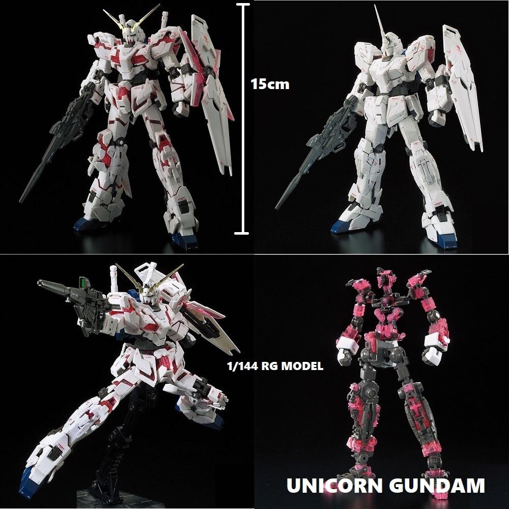Оригинальный Gundam RG 1/144 модель RX-0 единорог GUNDAM Freedom deporter Armor Unchained мобильный костюм детские игрушки
