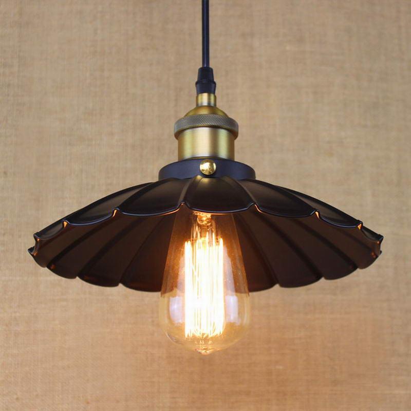 Edison desván Estilo Vintage Industrial Retro lámpara colgante luz E27 titular restaurante Bar contador ático librería lámpara negro blanco