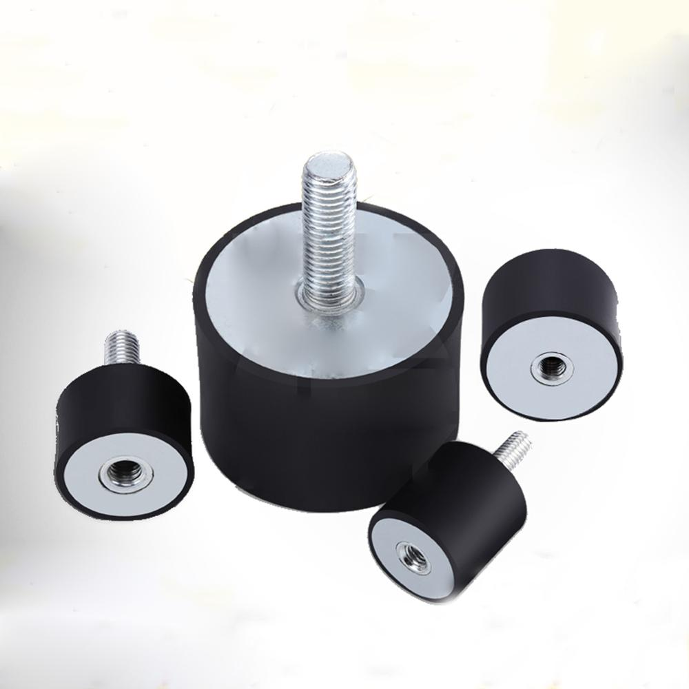 Diâmetro exterior 8/10/15/20mm m3x6mm m4x10mm m5x15mm m6x18mm amortecedor de borracha macho/fêmea da almofada de impacto da linha