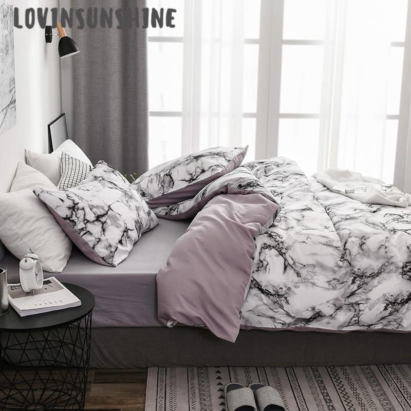 Edredón tamaño Queen de LOVINSUNSHINE, edredón tamaño King, juego de cama, Lino de color liso AB #140
