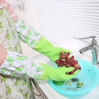 wholesale 4pclot beam mouth waterproof home kitchen latex rubber durable household cleaning laundry dishwashing gloves
