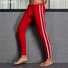 GANYANR sport Leggings collants de course hommes basket-ball Compression pantalon Fitness gymnase athlétique Jogging hiver Sexy poche Yoga Gay