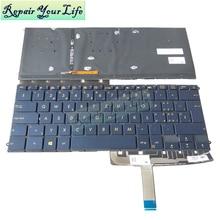 Reparar tu vida UX490 SP teclado español retroiluminado para ASUS ZenBook 3 Deluxe CA UA 0KN1 1S1SF26