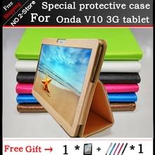 Модный двухслойный чехол-книжка из искусственной кожи с подставкой для Onda V10 3G/4G call phone 10,1 дюйма планшетный ПК Многоцветный на выбор + подарок