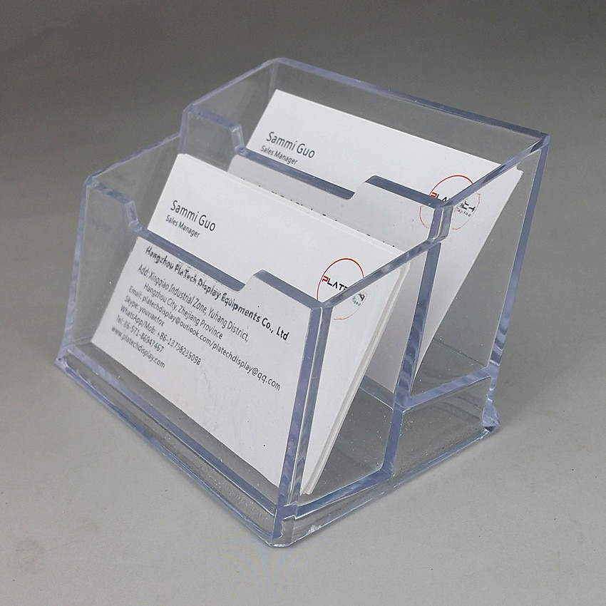 Several Kinds Acrylic Plastic Business Name Company Card ID Display Holders Stand Clear For Exhibition Booth On Desktop 400pcs