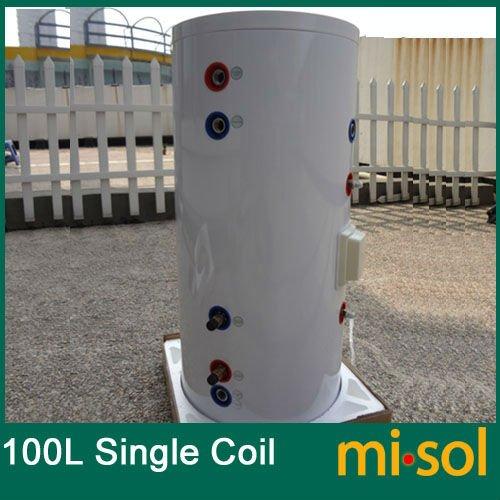 220 فولت 100 لتر خزان الضغط سخان المياه الشمسي ، مع النحاس لفائف
