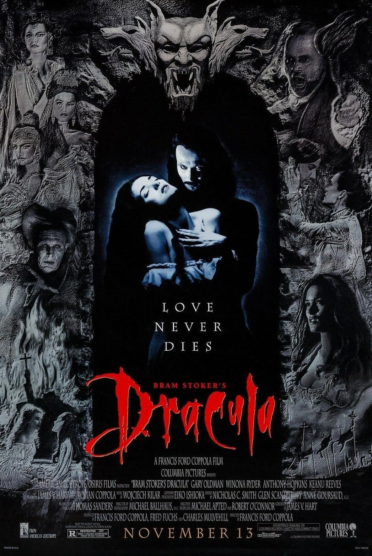 BRAM STOCKERS DRACULA (1992), cartel para pared decorativa de seda, pintura de 24x36 pulgadas