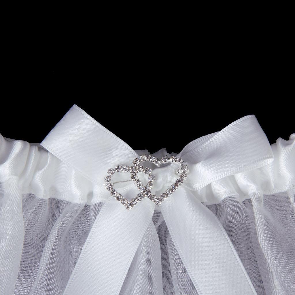 MYTL Sexy La novia chide diamante boda Liga blanca bola