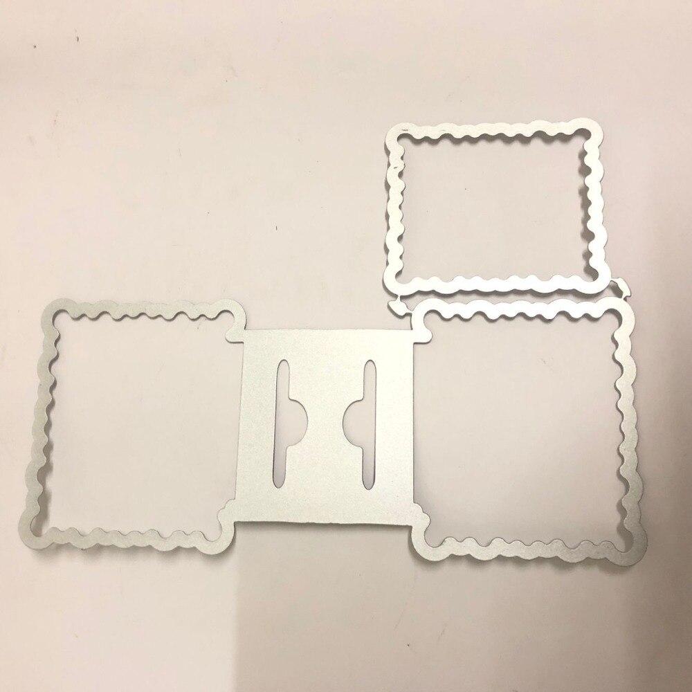Cartão quadrado cabeçalho metal corte dados estênceis para diy scrapbooking gravando faca de papel molde morrer cortes álbum de fotos