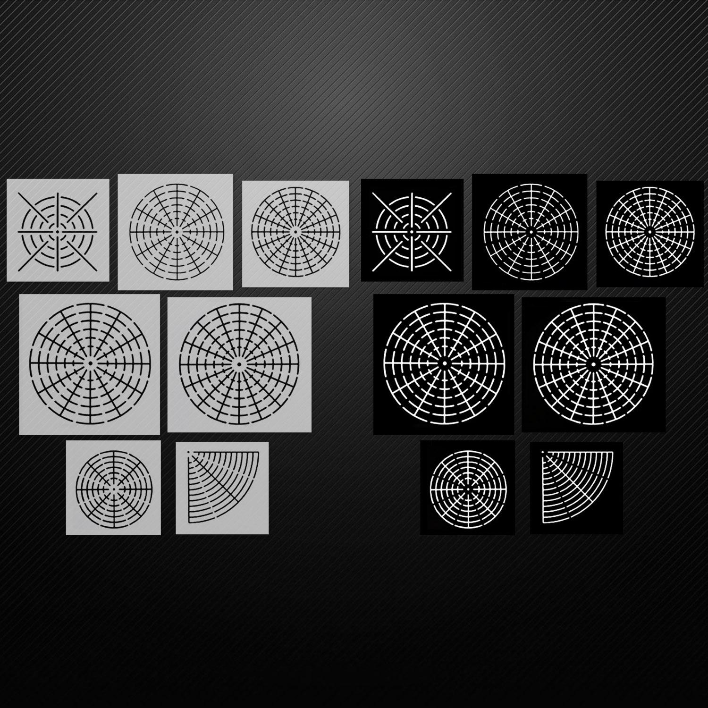 7PCS Diverse Stijl Mandala Puntjes Schilderen Stencils Templates Gereedschappen met Zwarte Cardboards voor Hout Rotsen Stoffen Wall Art
