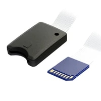 jimier 25cm standard sd sdhc memory card kit male to sd female extension soft flat fpc cable extender