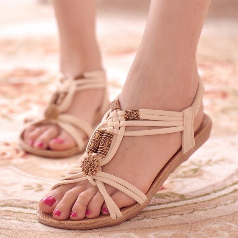 Frauen Sandalen 2019 Sommer Schuhe Böhmen Frauen Schuhe Neue Mode Strand Sandalen Feste Frauen Flip-Flops Casual Flache Alias Mujer