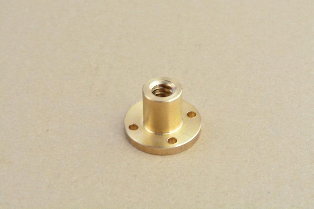 T12 écrou vis trapézoïdale laiton cuivre plomb 2mm 3mm 4mm 8mm 10mm 12mm 1 pièces